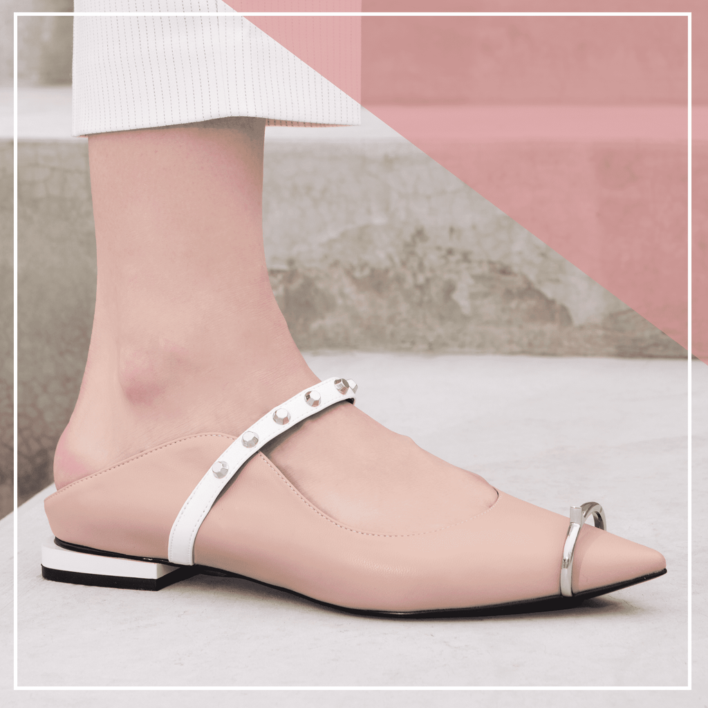 Ladies Ring Toe Flat Mule 4396 Nude - House of Avenues - Designer Shoes | 香港 | 女鞋 House of Avenues