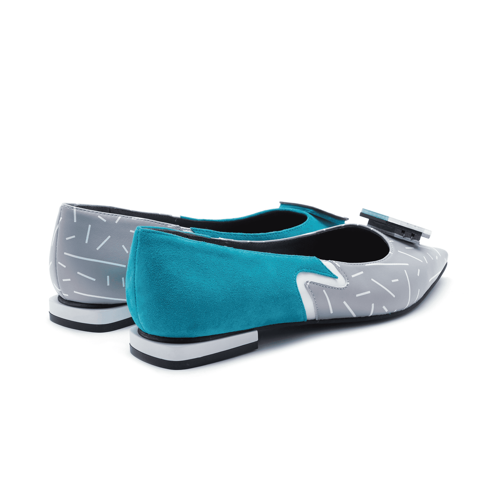 NEO MEMPHIS COLOR BLOCK FLAT 4425 - House of Avenues - Designer Shoes Online