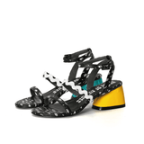 """NEO MEMPHIS"" Overall Printed Heel Sandal 4453 - House of Avenues - Designer Shoes Online"