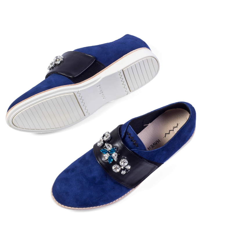 Ladies Casual Oxford HV01 BLUE - House of Avenues - Designer Shoes | 香港 | 女鞋 House of Avenues