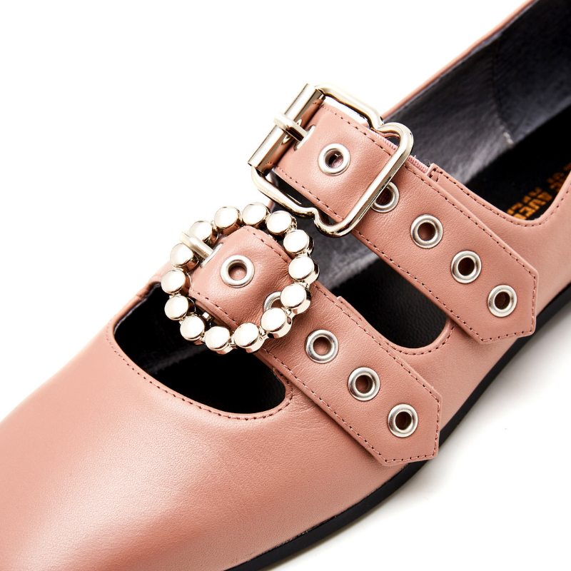 Ladies Punky Style Flat Pump 5559 Pink - House of Avenues - Designer Shoes | 香港 | 女鞋 House of Avenues