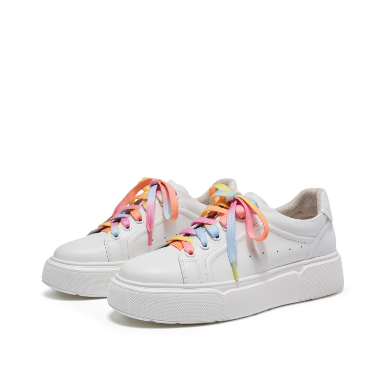Ladies Rainbow Lace Up Sneaker 5701 MLT - House of Avenues - Designer Shoes | 香港 | 女鞋 House of Avenues