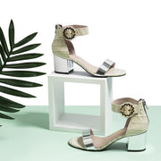 SEA YOU SOON CROC EMBOSSED HEEL SANDAL 5538 - House of Avenues - Designer Shoes Online