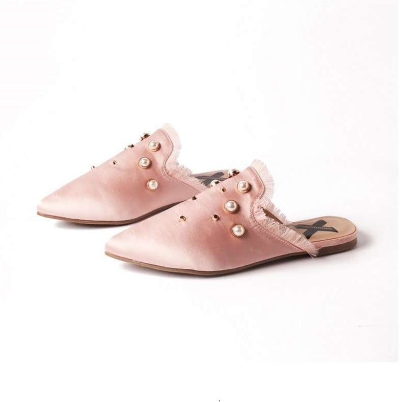 SATIN PEARL STUDS MULE 5039 - House of Avenues - Designer Shoes | 香港 | 女鞋 House of Avenues