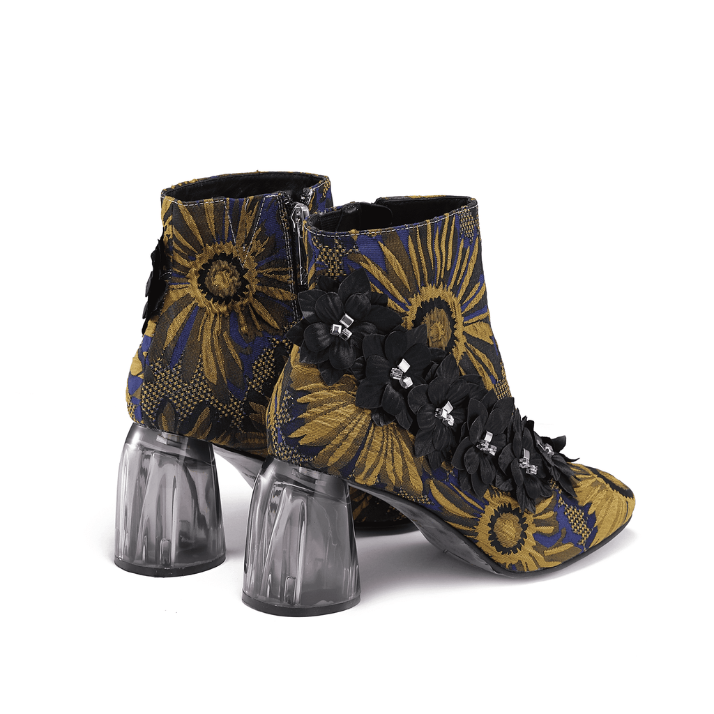 Ladies Mini Flower Trimming Boot 5085 - House of Avenues - Designer Shoes Online 香港女鞋網店