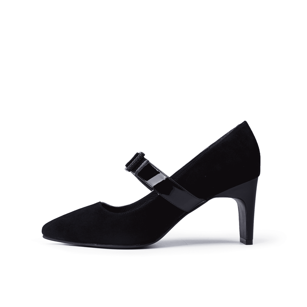 Colorblock leather Asymmetric Mary Jane Heel Pump 5211 - House of Avenues - Designer Shoes Online