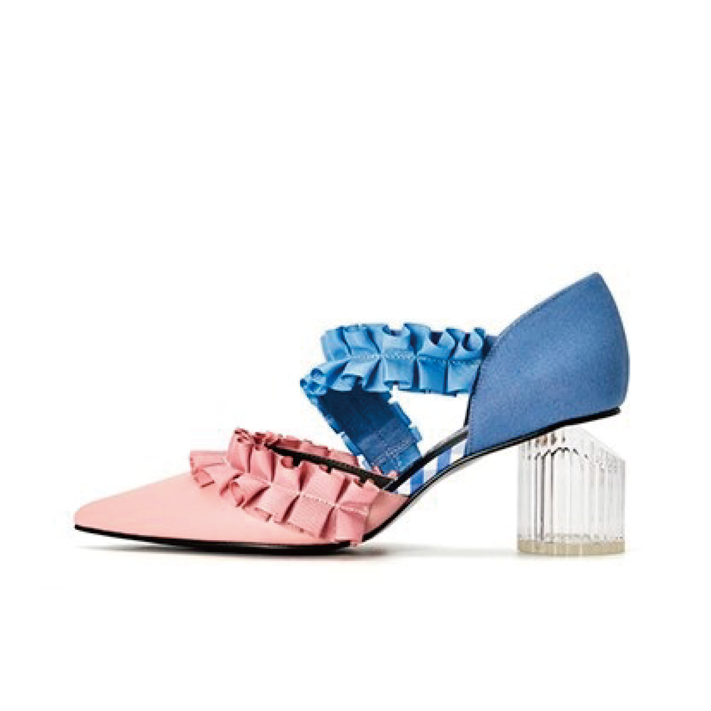 Ladies Ruffle d'orsay Heel Pumps 5232 Pink - House of Avenues - Designer Shoes | 香港 | 女鞋 House of Avenues