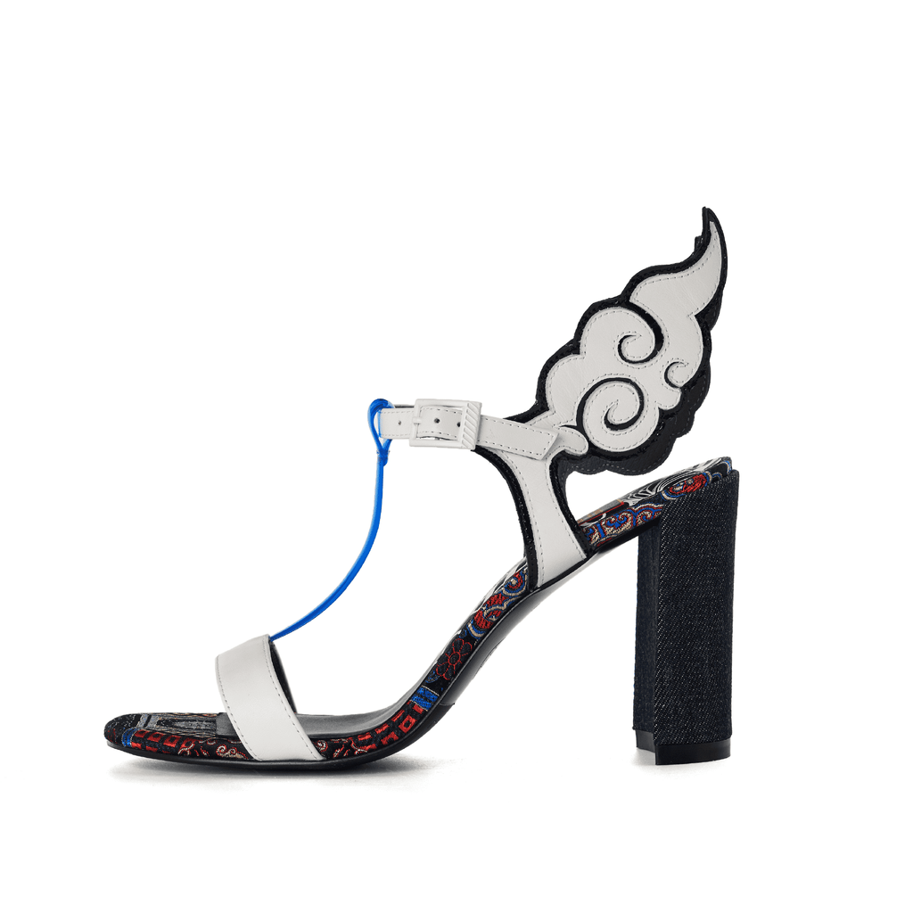 Ladies Ankle with Wings Heel Sandal 5247 White - House of Avenues - Designer Shoes | 香港 | 女鞋 House of Avenues