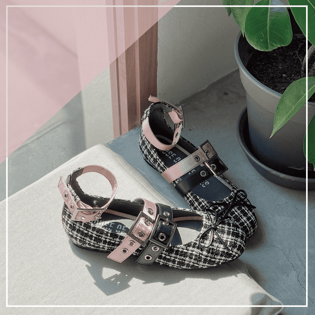 STRIPES WITH BUCKLE BALLERINAS 5301 - House of Avenues - Designer Shoes | 香港 | 女鞋 House of Avenues