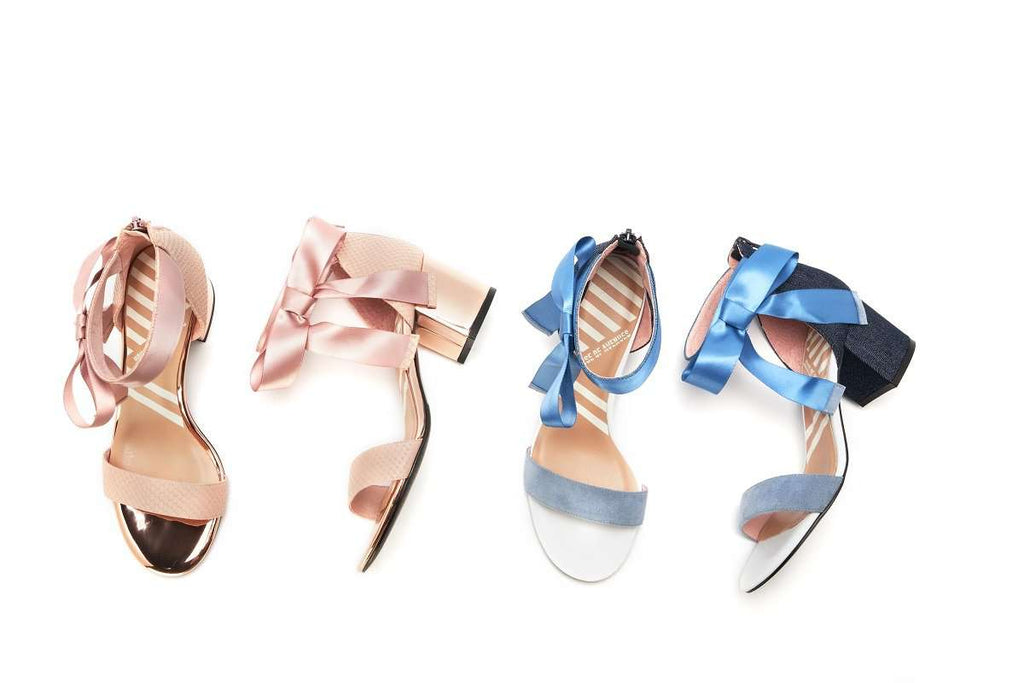 Ladies Satin Ribbon Heel Sandal 5304 Blue - House of Avenues - Designer Shoes | 香港 | 女鞋 House of Avenues