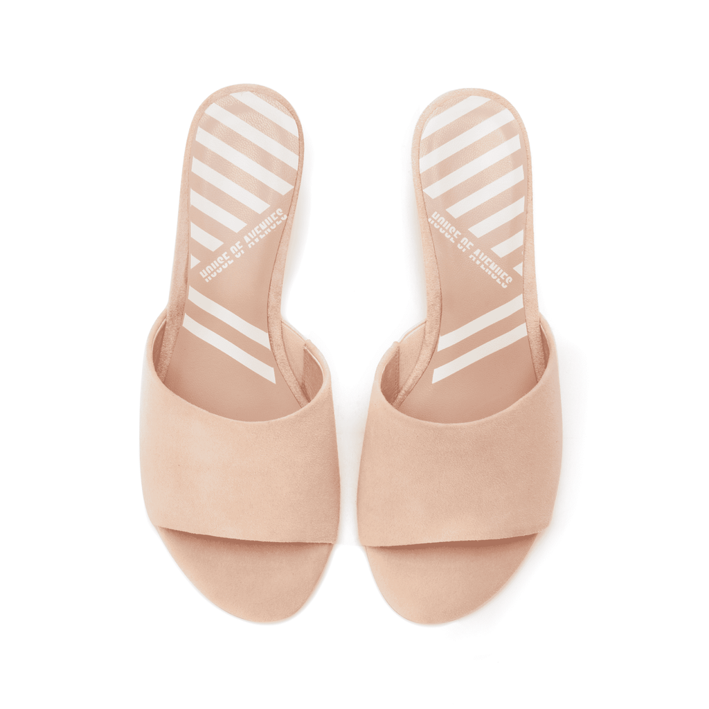 Ladies' Suede Slip-on Wedge Sandals 5315 Pink - House of Avenues - Designer Shoes | 香港 | 女鞋 House of Avenues