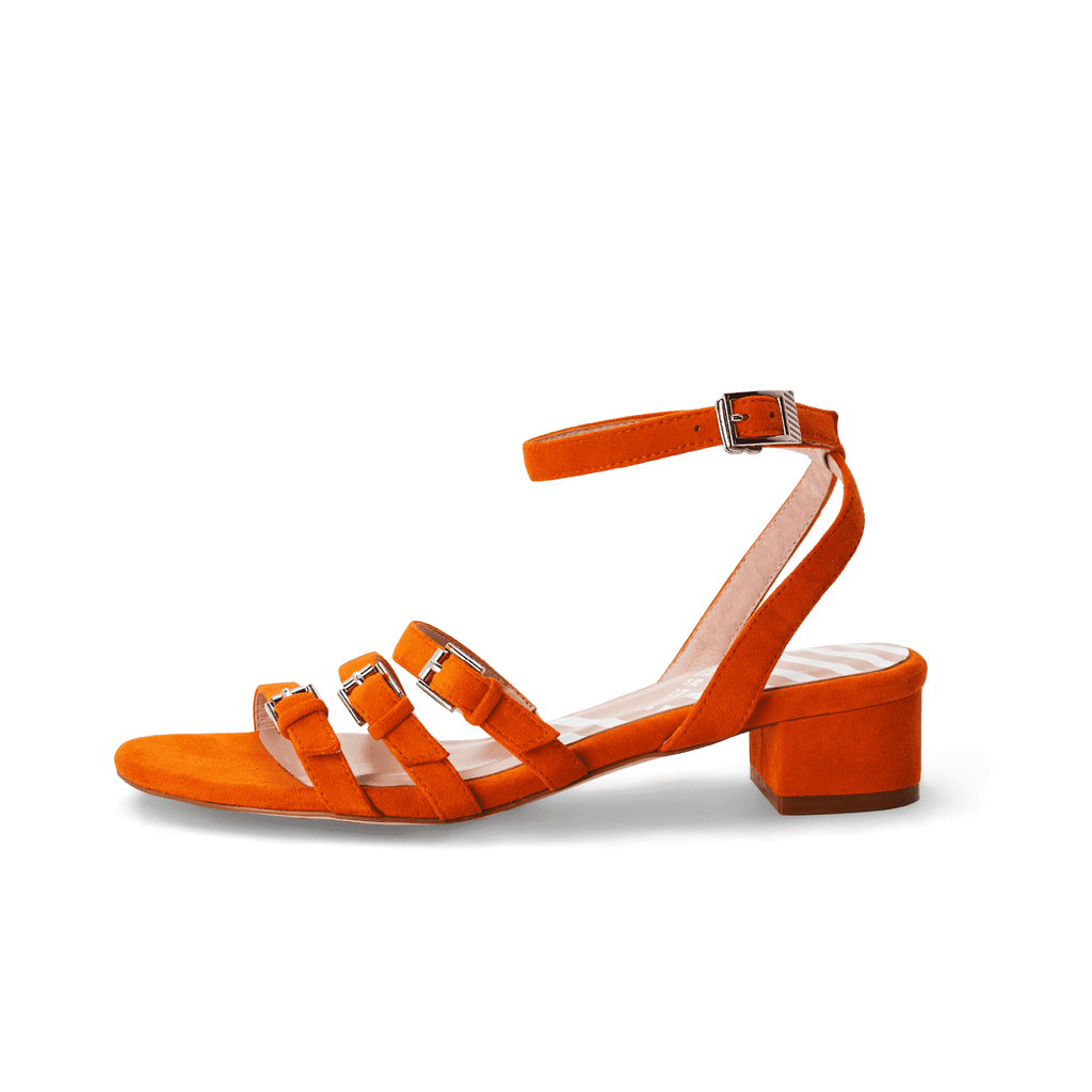 Ladies Strappy Low Heel Sandal 5319 Orange - House of Avenues - Designer Shoes | 香港 | 女鞋 House of Avenues