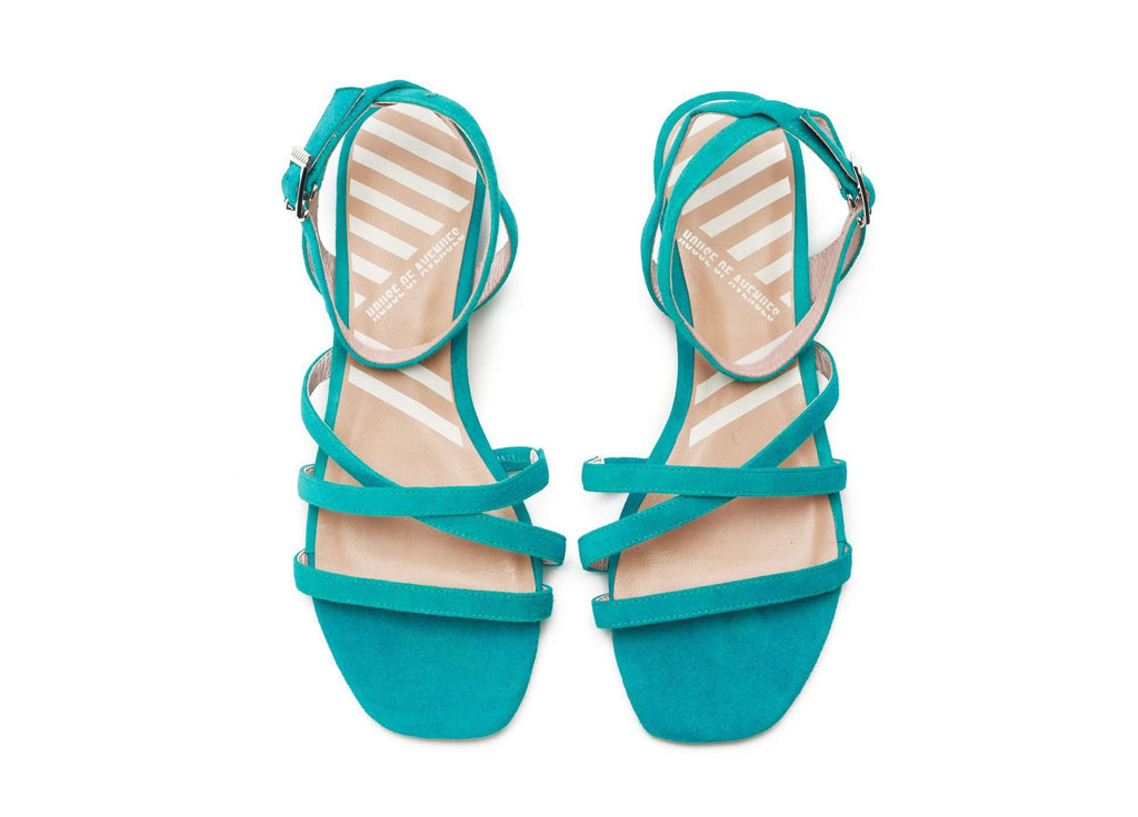 Ladies Strappy Flat Sandal 5320 Teal - House of Avenues - Designer Shoes | 香港 | 女鞋 House of Avenues