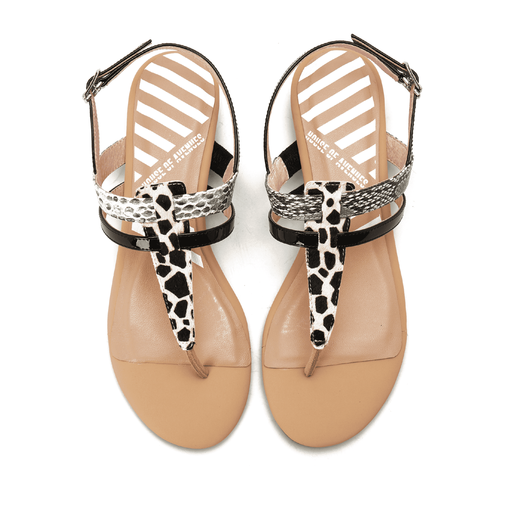 Ladies Flip Flop Style Flat Sandal 5321 Beige - House of Avenues - Designer Shoes | 香港 | 女鞋 House of Avenues