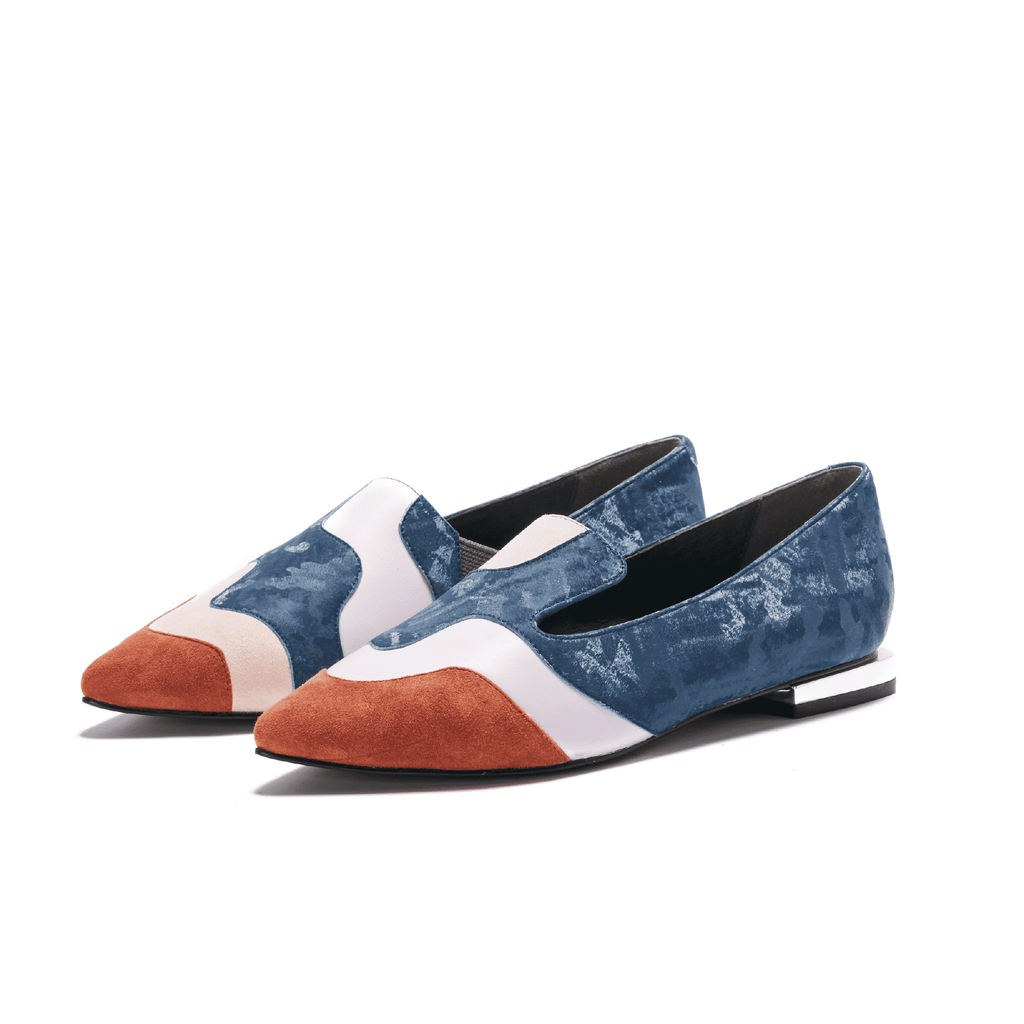 Color Factory Ladies' Color Block Loafer 5367 Blue - House of Avenues - Designer Shoes | 香港 | 女鞋 House of Avenues