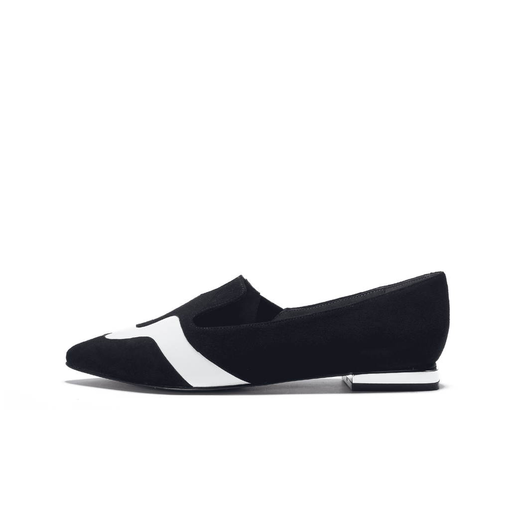 Color Factory Ladies' Color Block Loafer 5367 Black - House of Avenues - Designer Shoes | 香港 | 女鞋 House of Avenues