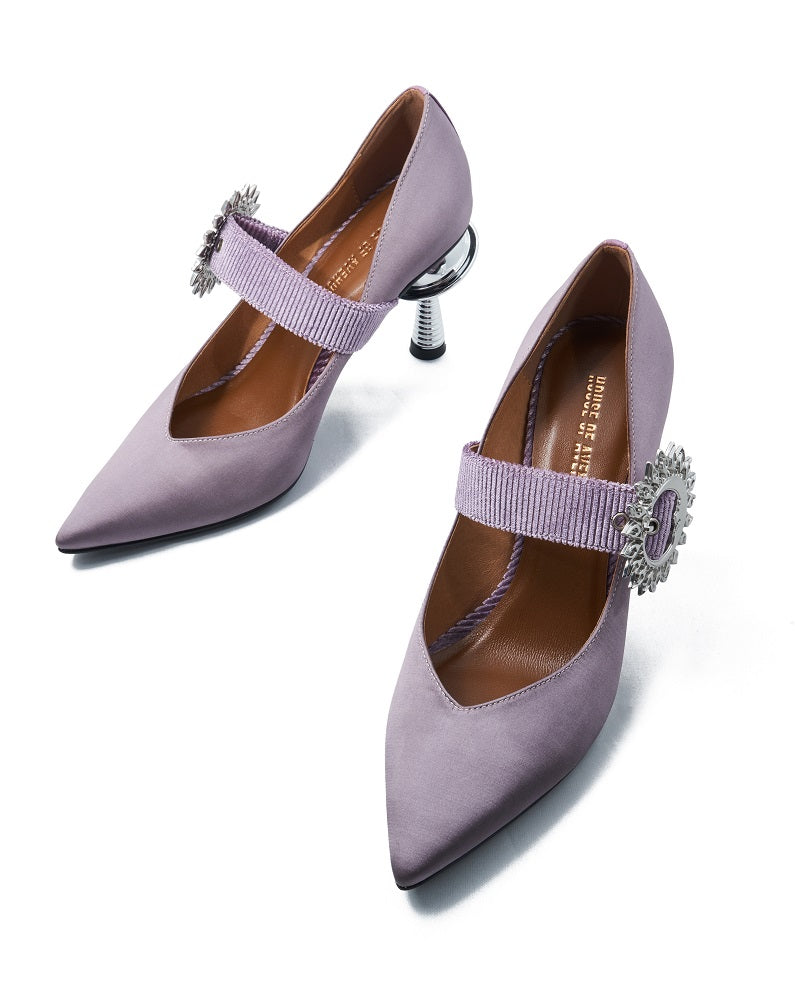 Live Within I Ladies' Mary Jane Heel Pumps 5375 Purple - House of Avenues - Designer Shoes Online