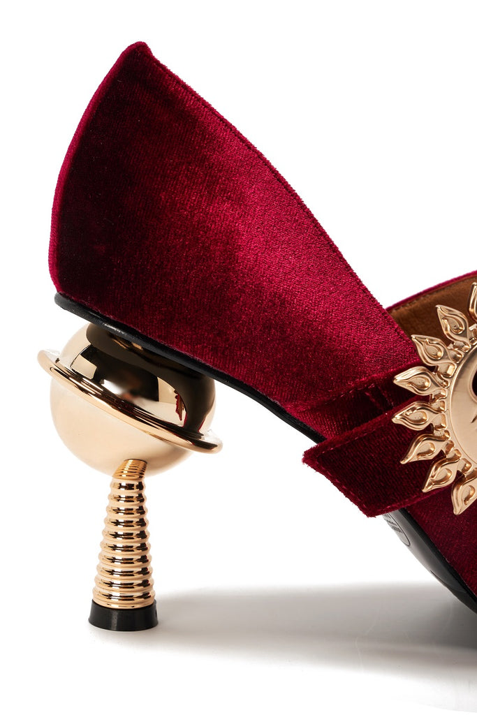 Live Within I Ladies' Mary Jane Heel Pumps 5375 Burgundy - House of Avenues - Designer Shoes Online