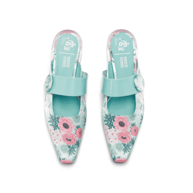 PALACE x HOA Flower Printed Mule 5382 - House of Avenues - Designer Shoes Online