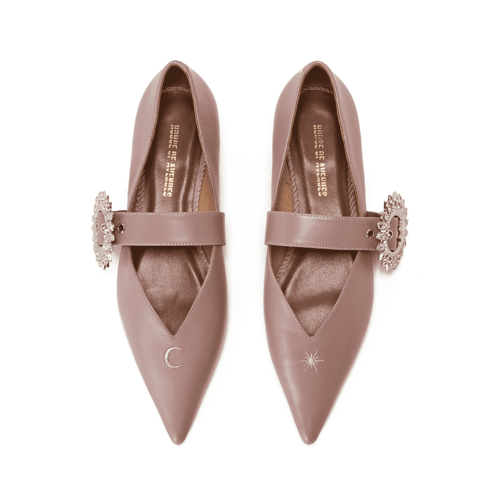 Live Within II Ladies' Mary Jane Flat Pumps 5421 Pink - House of Avenues - Designer Shoes Online