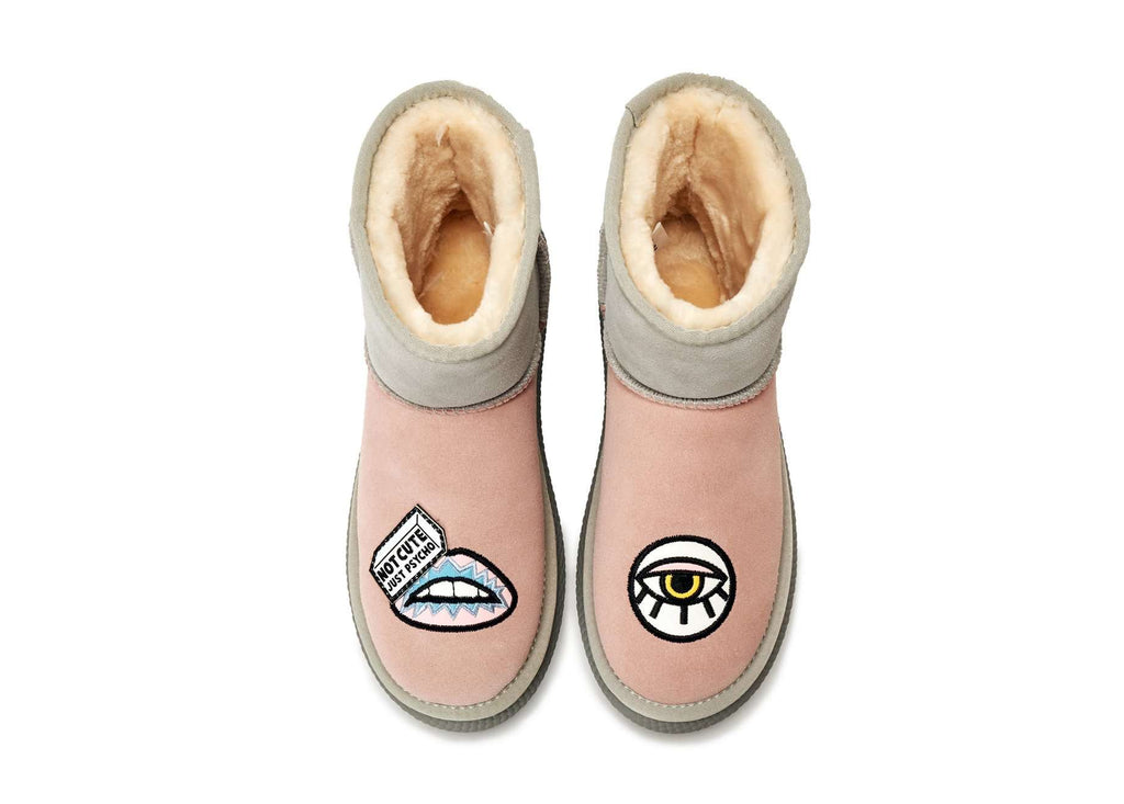FOR KIDS ! Super Warm Snowboot 5433 (Pink) (KIDS) - House of Avenues - Designer Shoes | 香港 | 女鞋 House of Avenues