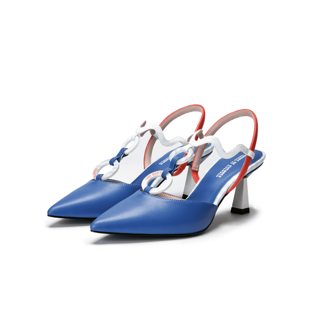 Ladies' Marine Style Slingback Heel Pumps 5448 - House of Avenues - Designer Shoes | 香港 | 女鞋 House of Avenues