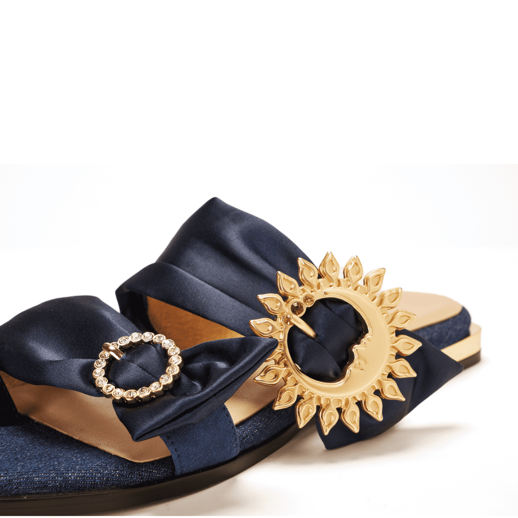 Live Within II Ladies' Retro Flat Sandal 5453 Navy - House of Avenues - Designer Shoes | 香港 | 女鞋 House of Avenues