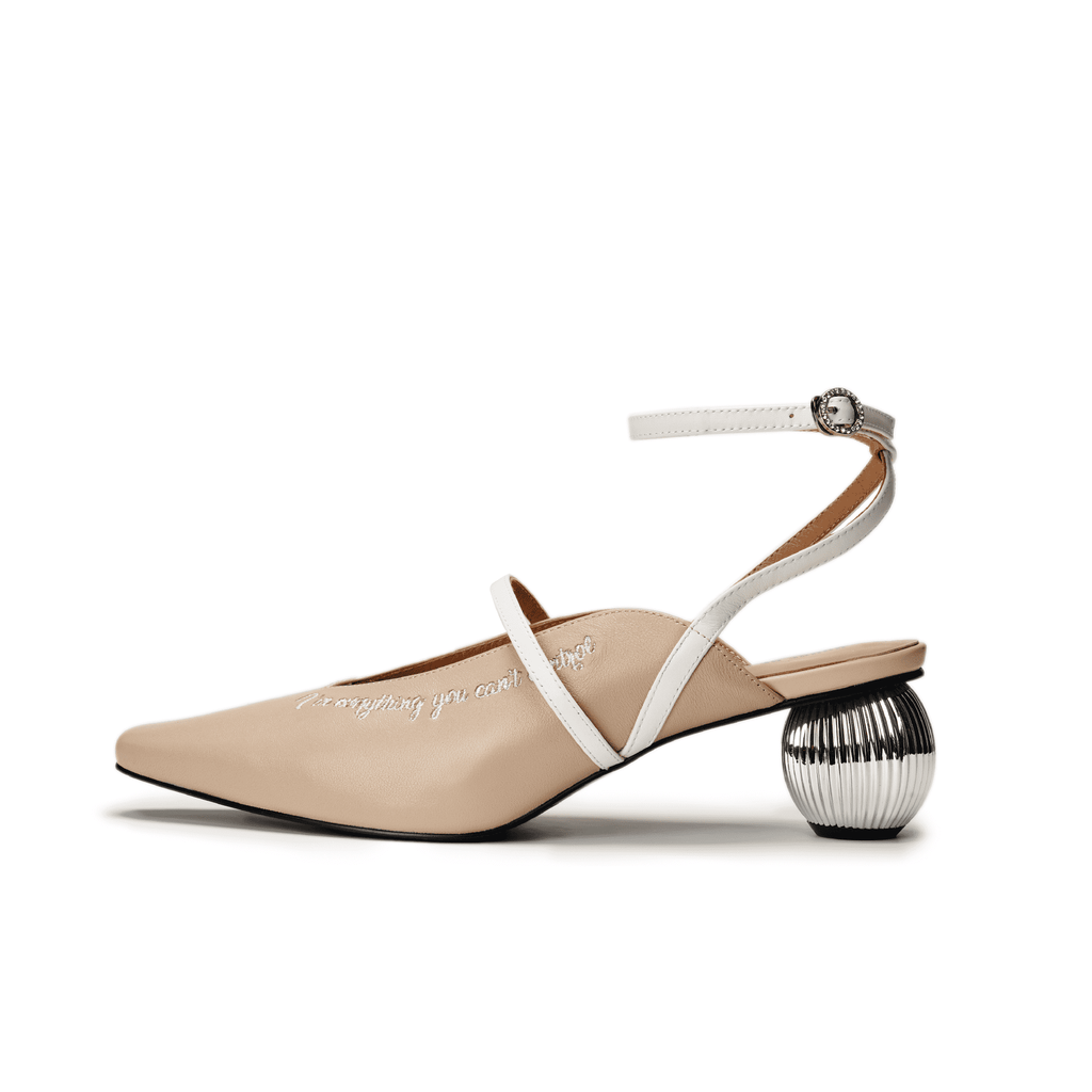 Live Within II Ladies' Retro Slingback Mule 5454 Beige - House of Avenues - Designer Shoes Online