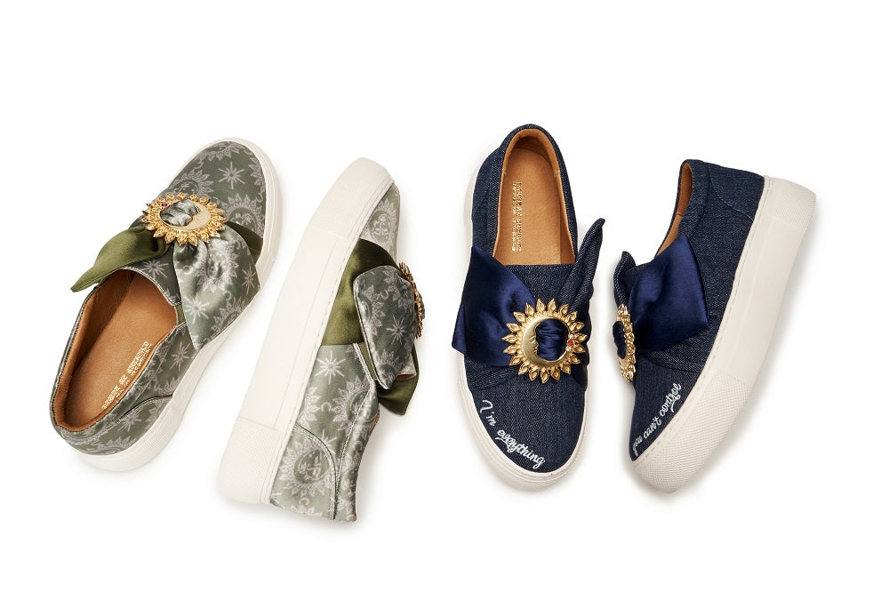 Live Within II Ladies' Retro Satin Slip-on 5457 Navy - House of Avenues - Designer Shoes Online