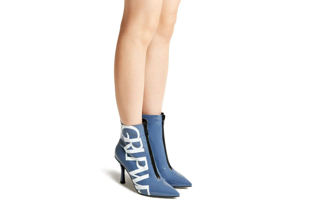 HIGH HEEL GRL PWR BOOTIE 5475 (Light blue) - House of Avenues - Designer Shoes Online