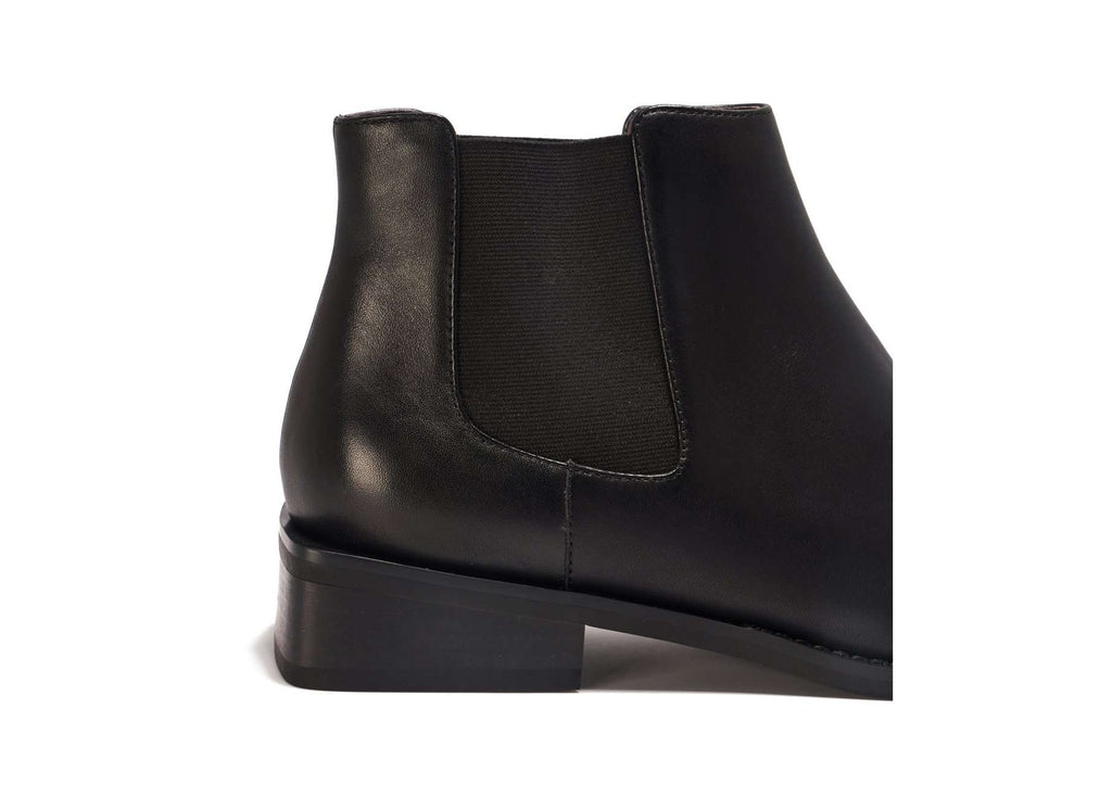 SQUARE TOE BOOTIE 5481 (Black) - House of Avenues - Designer Shoes Online