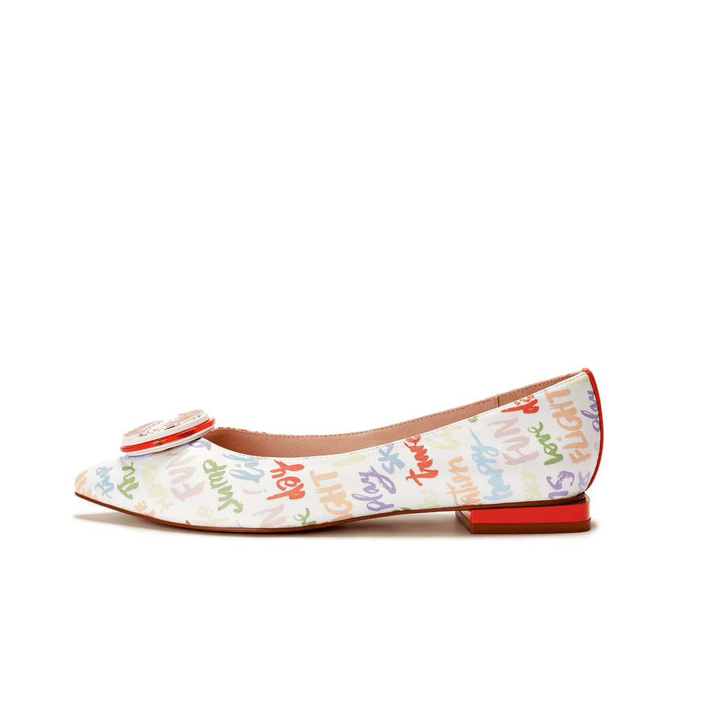 Love is Universal Ladies' Allover Print Flat Pumps 5505 - House of Avenues - Designer Shoes Online