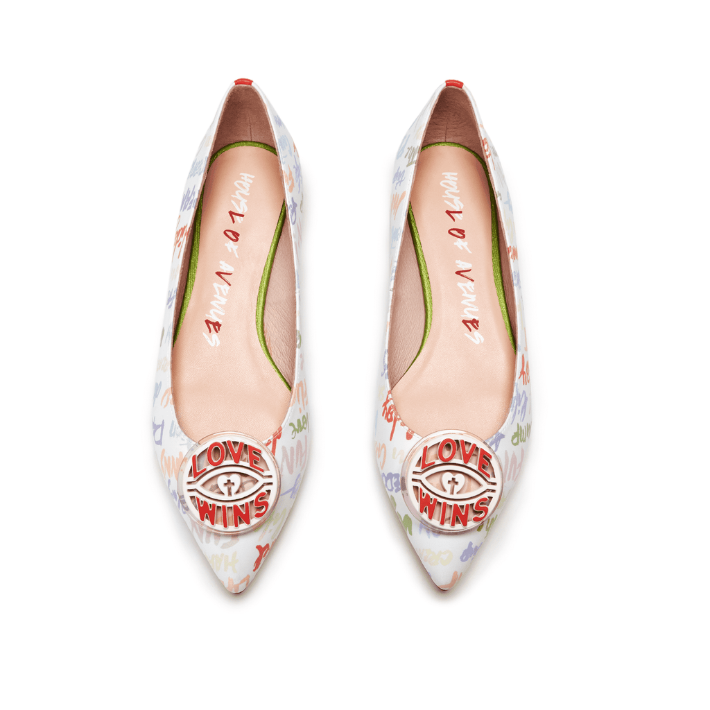 Ladies' Allover Print Flat Pumps 5505 - House of Avenues - Designer Shoes | 香港 | 女鞋 House of Avenues