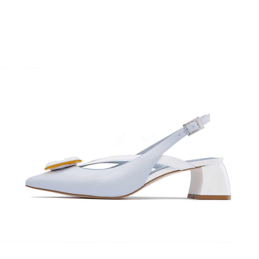 Ladies' V Strap Slingback Pumps 5506 Light Blue - House of Avenues - Designer Shoes | 香港 | 女鞋 House of Avenues