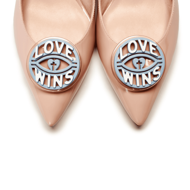 """Love is Universal""  Love Wins Block Heel PUMP 5509 - House of Avenues - Designer Shoes Online"