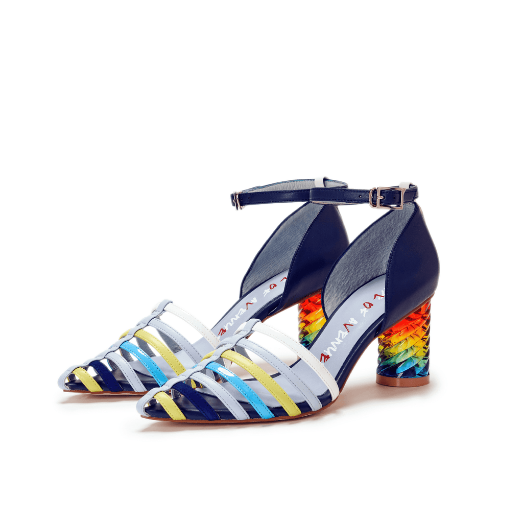 Love is Universal Ladies' Rainbow Colored d'Orsay Pumps 5511 - House of Avenues - Designer Shoes Online