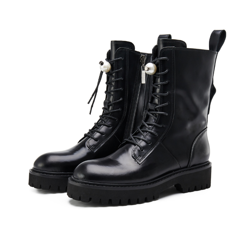 Ladies Lace Up Leather Military Boot 5563 - House of Avenues - Designer Shoes | 香港 | 女鞋 House of Avenues