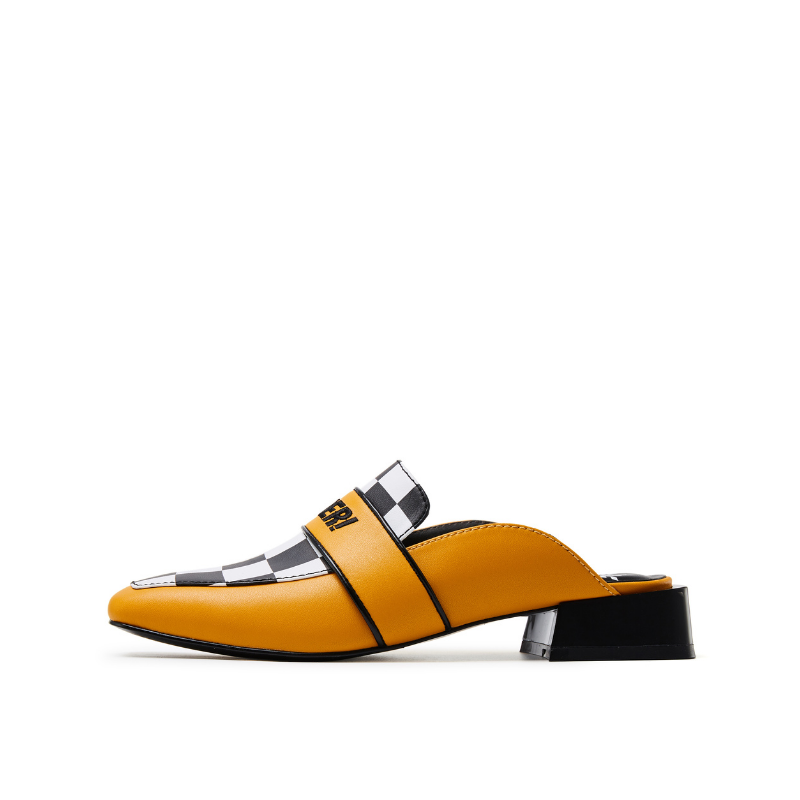 Rider Pattern Mule 5543 Yellow - House of Avenues - Designer Shoes | 香港 | 女鞋 House of Avenues