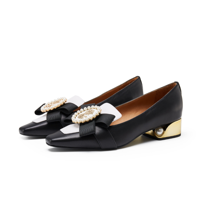 Ladies Ribbon Brooch Loafer 5576 Black - House of Avenues - Designer Shoes | 香港 | 女鞋 House of Avenues