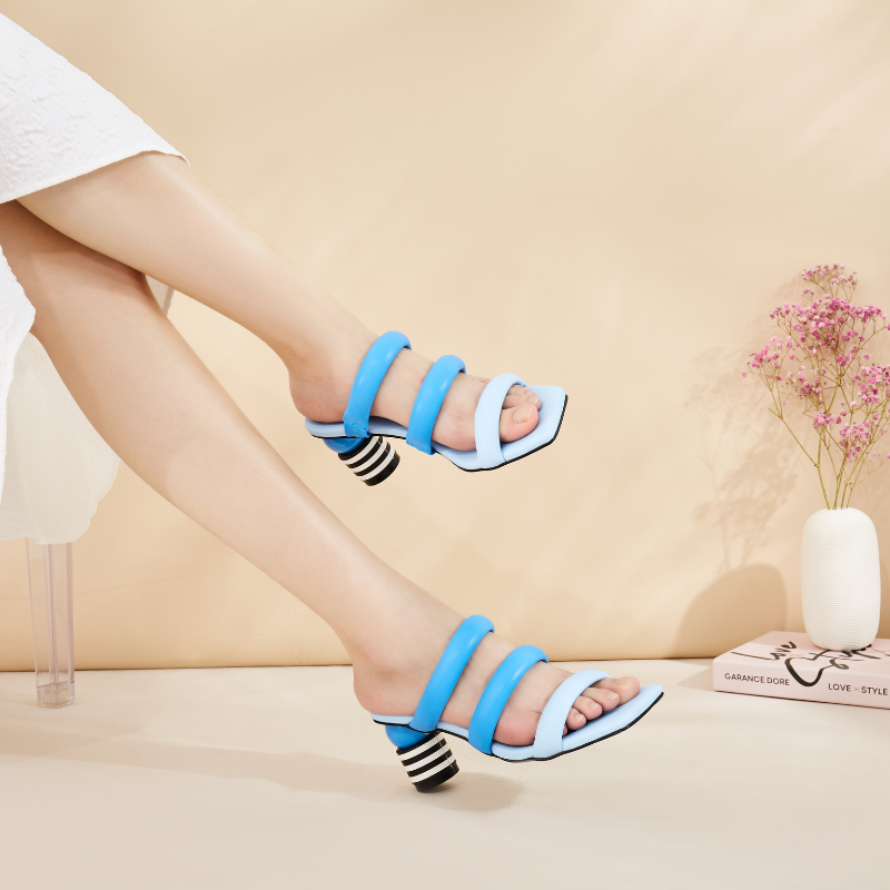 Ladies Strappy Heel Sandals 5620 Blue - House of Avenues - Designer Shoes | 香港 | 女鞋 House of Avenues
