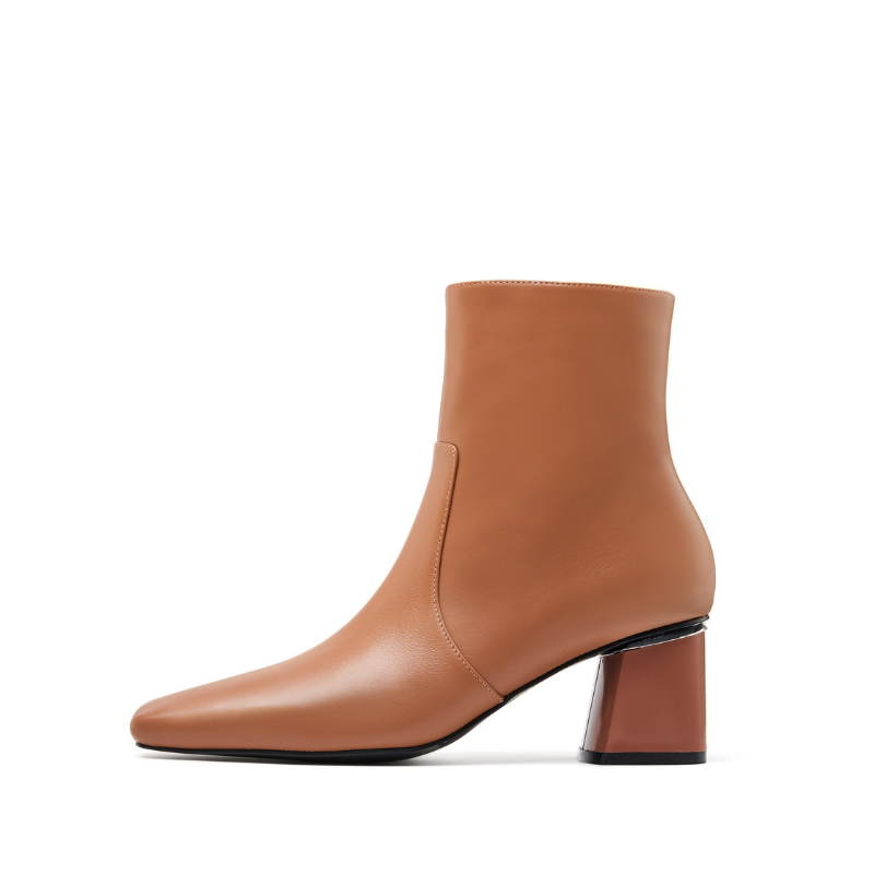 Ladies Basic Leather Bootie 5595 Brown - House of Avenues - Designer Shoes Online 香港女鞋網店