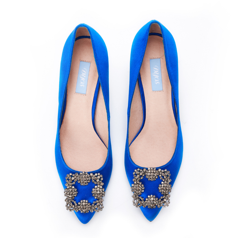 DB Ladies Ornament Heel Pumps DB010068 Blue - House of Avenues - Designer Shoes | 香港 | 女鞋 House of Avenues