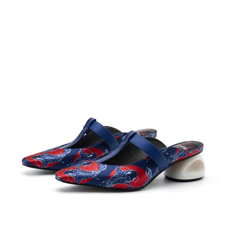 Ladies T-Strap Mule Sandal 5607 Navy - House of Avenues - Designer Shoes | 香港 | 女鞋 House of Avenues