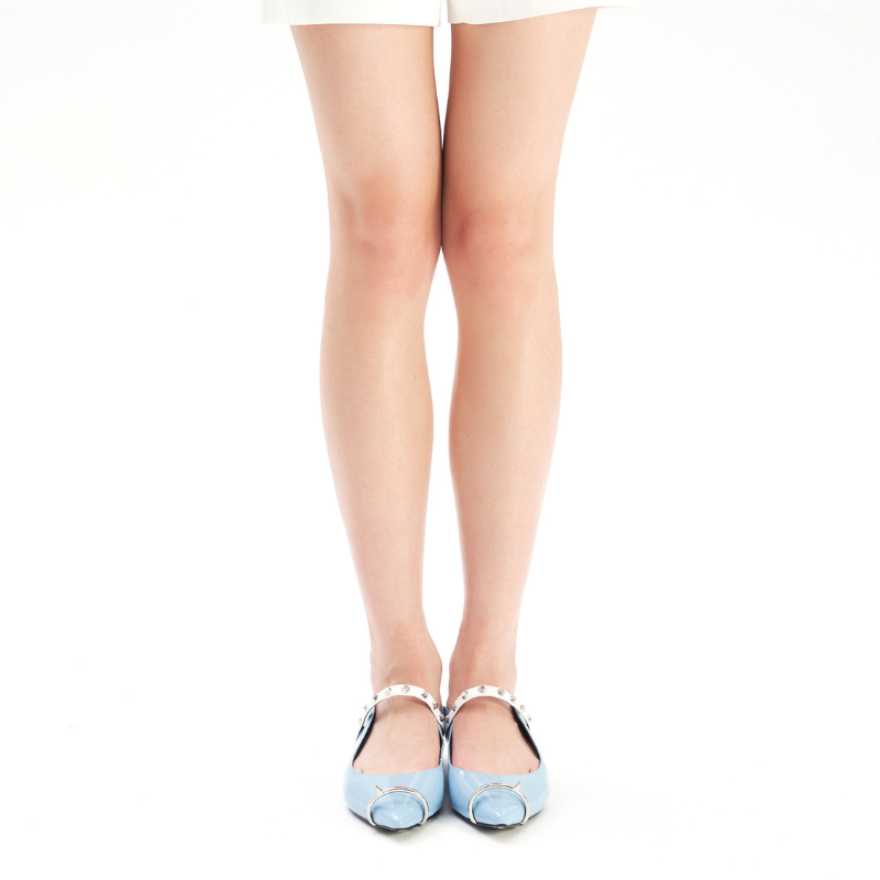 Ladies Ring Toe Flat Mule 4396 Light Blue - House of Avenues - Designer Shoes | 香港 | 女鞋 House of Avenues