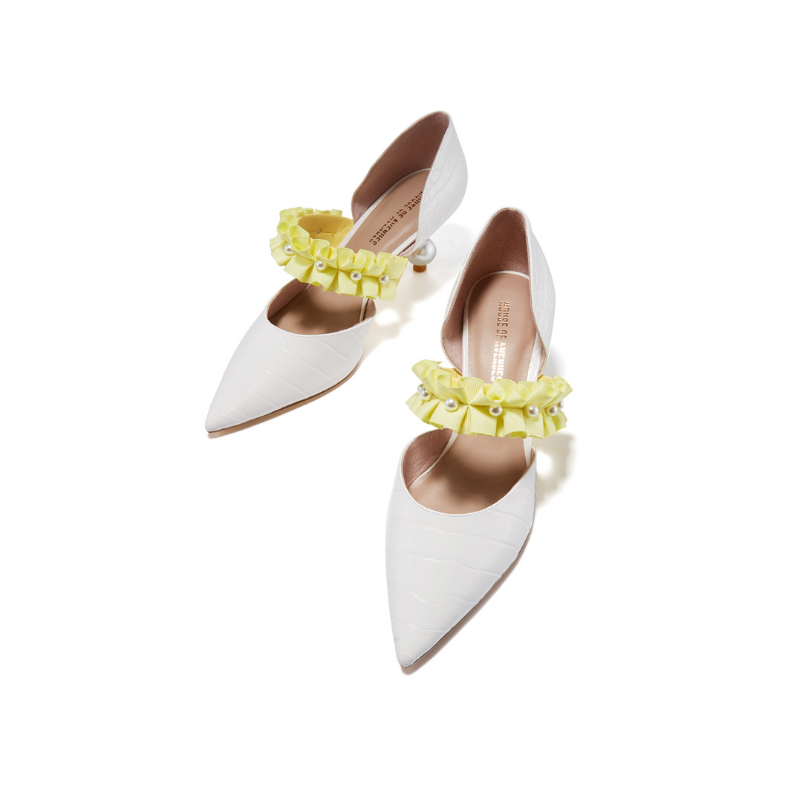 Ladies Elegant d'Orsay Pumps 5345 White - House of Avenues - Designer Shoes | 香港 | 女鞋 House of Avenues