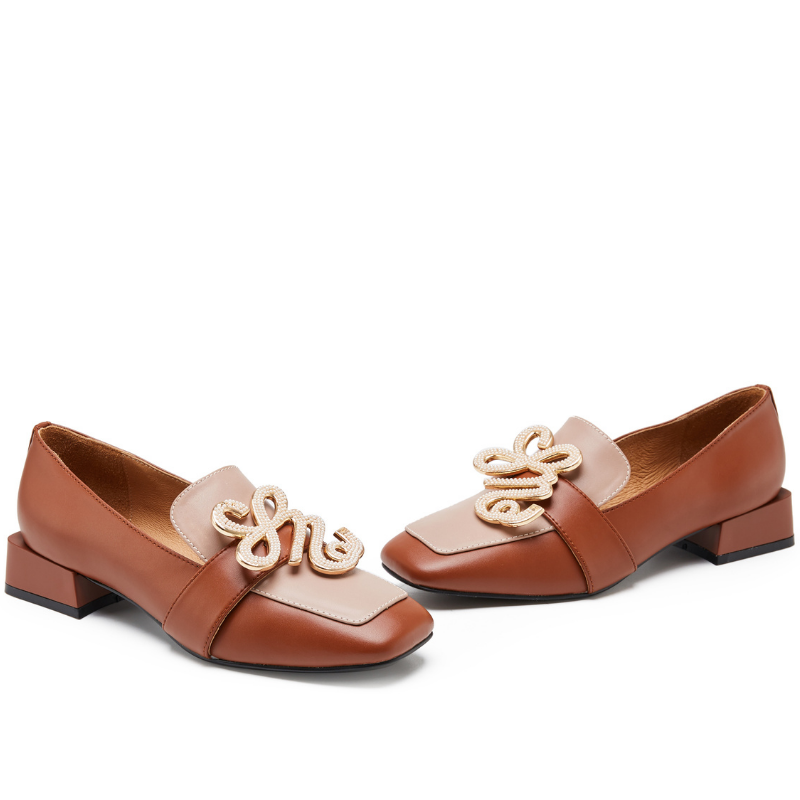 Ladies Square Toe Retro Loafer 5552 Brown - House of Avenues - Designer Shoes | 香港 | 女鞋 House of Avenues