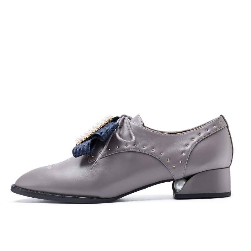 Ladies Retro Oxford 5555 Taupe - House of Avenues - Designer Shoes | 香港 | 女鞋 House of Avenues