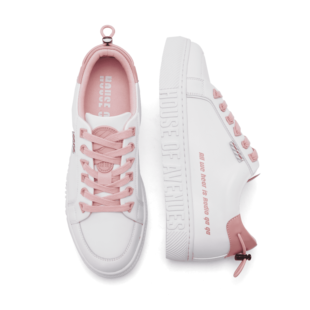 Ladies Neo Memphis Court White Sneaker 5298 Pink - House of Avenues - Designer Shoes | 香港 | 女鞋 House of Avenues