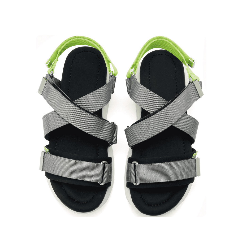 Ladies Cross Strap Sporty Sandal 5328 Grey - House of Avenues - Designer Shoes | 香港 | 女鞋 House of Avenues