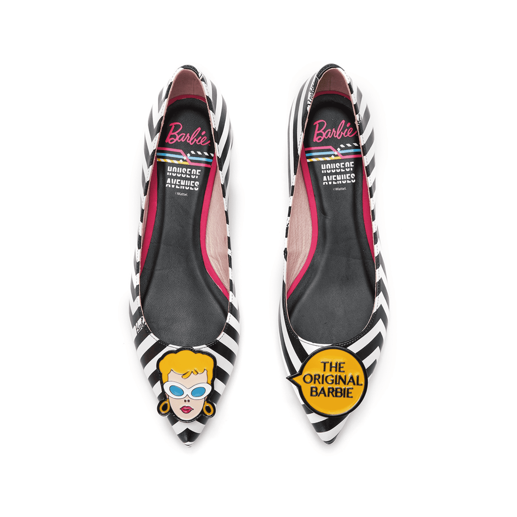 Barbie x HOA Ladies' Stripe Flat Pump 5334 - House of Avenues - Designer Shoes Online 香港女鞋網店